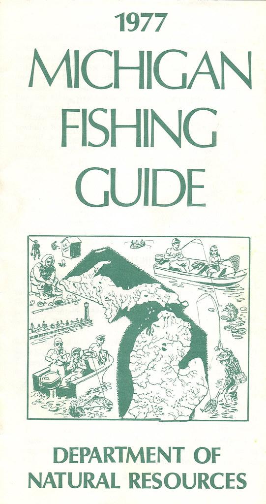 1977 michigan vintage fishing license law digest guide for Michigan fishing license online