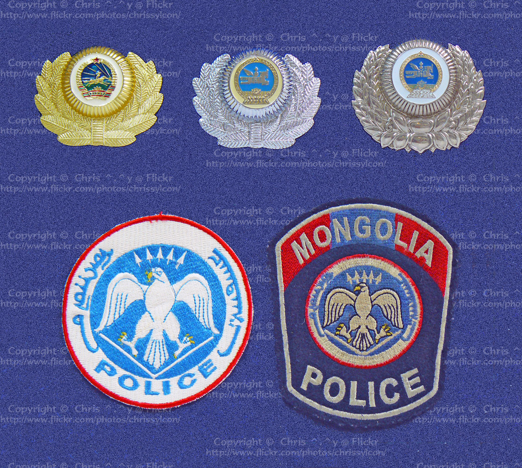 Mongolian National Police Badges & Patches