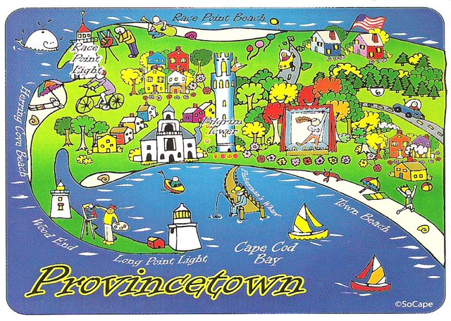 Map Provincetown Usa A Map Of Provincetown