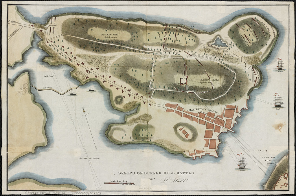 sketch of bunker hill battle zoom into this map at maps