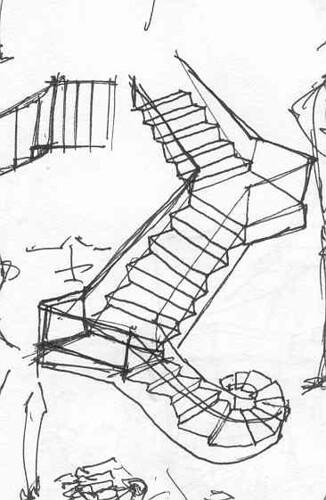 Quick Sketch Stairs Angelai Art Craft Design Flickr