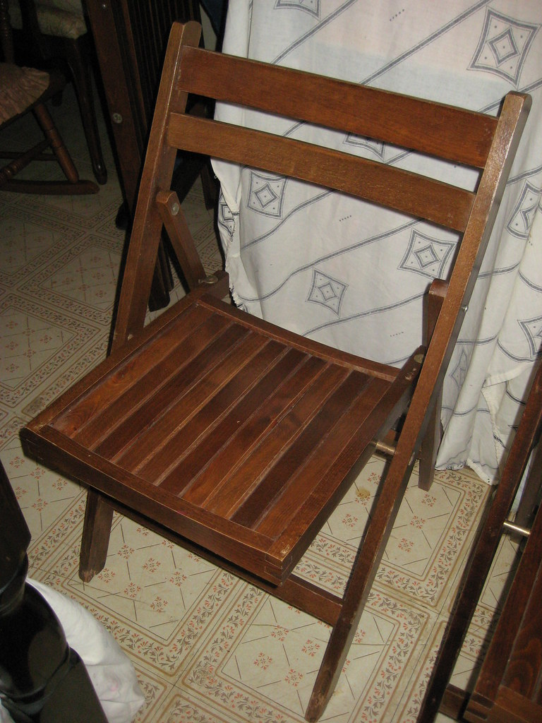 Wooden Folding Chairs Made In Romania Item 3502 Four