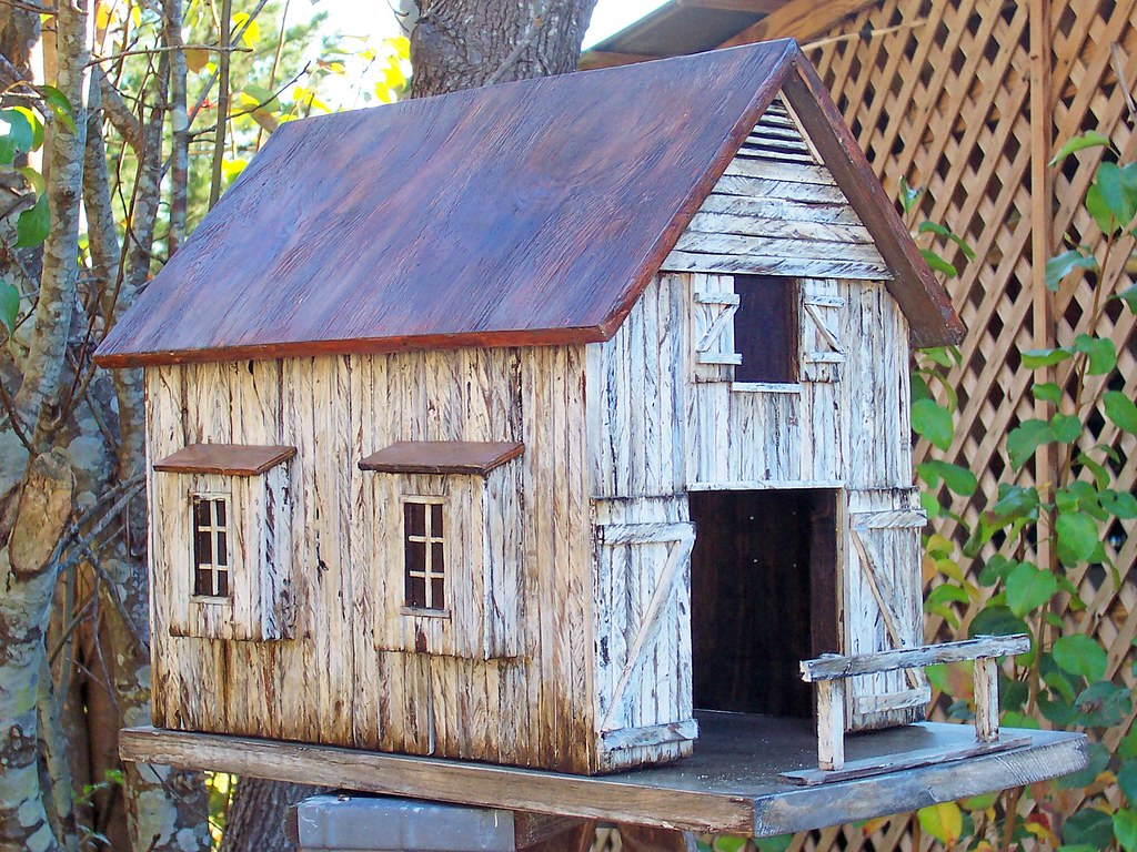 Old Barn Birdhouse Country Birdhouse Handbuilt By Me