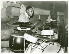 Drummer in orchestra in Memphis juke joint, Tennessee. | by New York Public Library