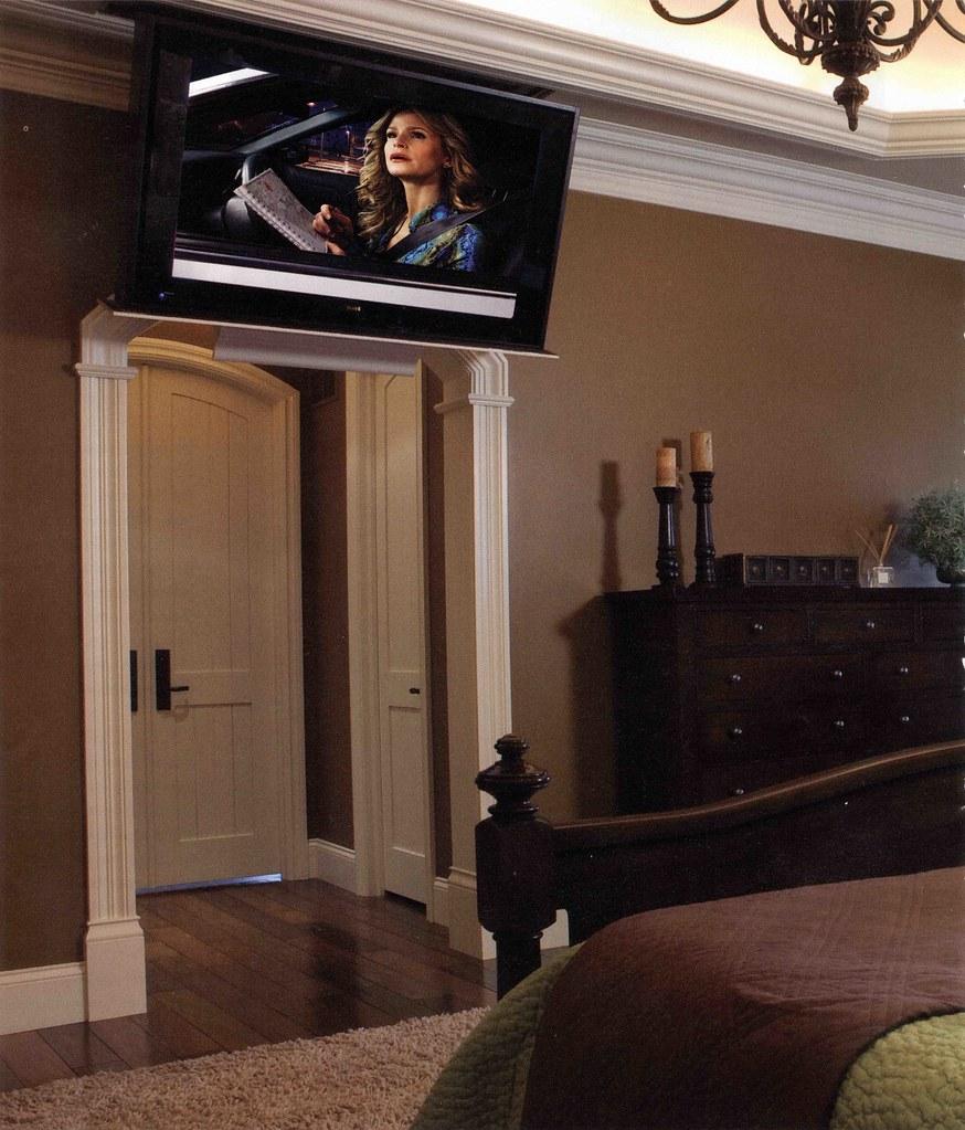 Bedroom Ceiling Mounted Tv Zen Bedroom Decor Japanese Bedroom Door Jack Wills Bedroom Ideas: TV Mounted Over Bedroom Entry Way