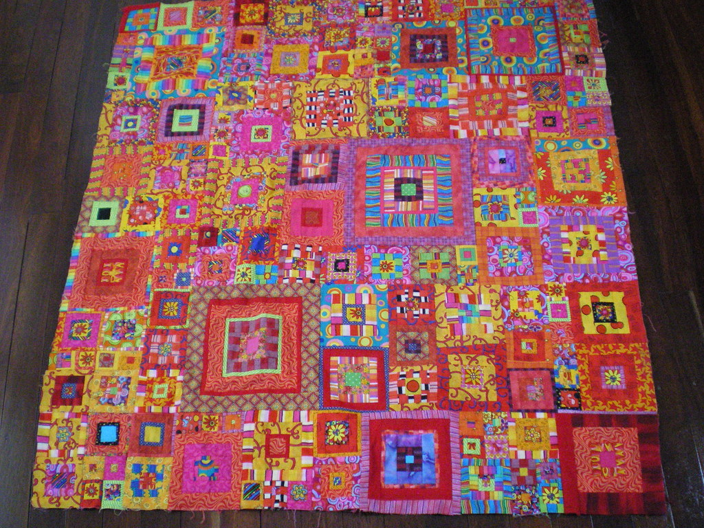 my lovely kaffe fassett quilt top i made this over two yea