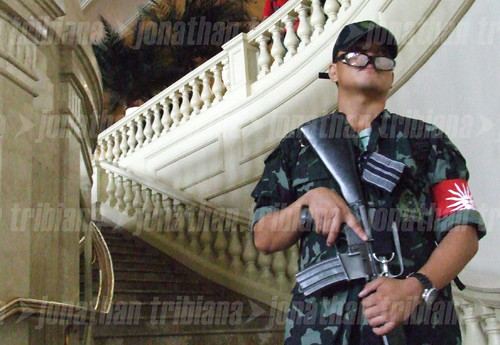 All Cleared  Sir  A Magdalo Soldier Guarding His Post Insi