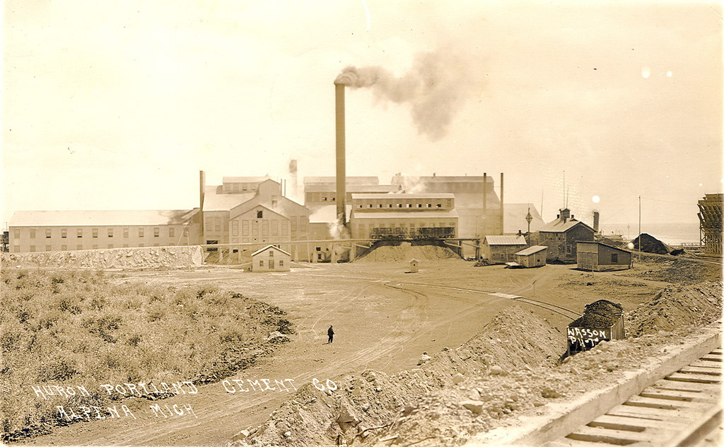 Huron Portland Cement : Alpena mi view of huron portland cement plant rppc ph
