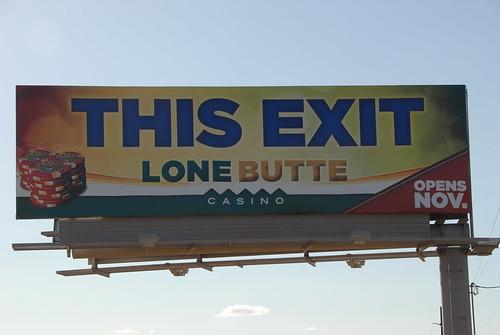 Lone Butte Casino Billboard On The Santan Freeway Loop 202