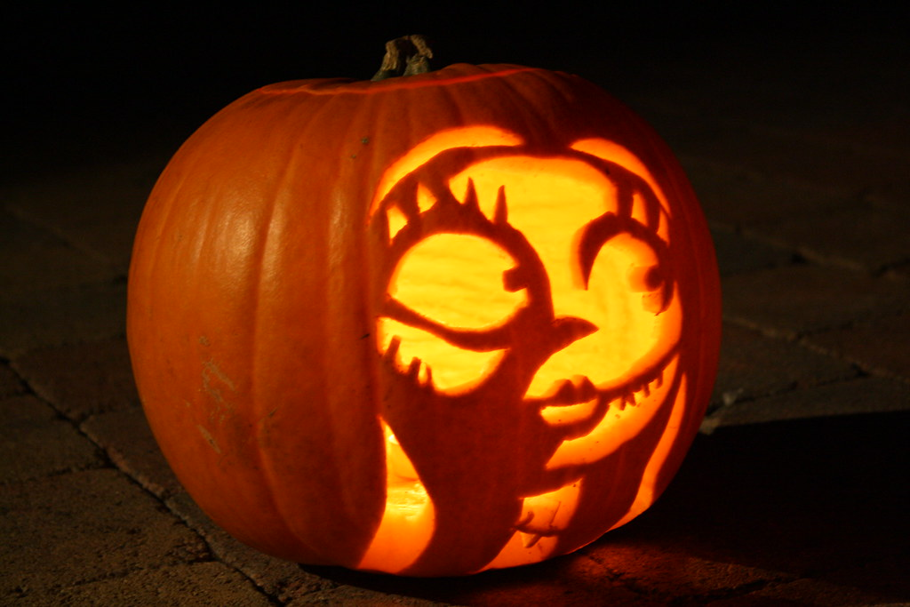 Easy Nightmare Before Christmas Pumpkin Carving