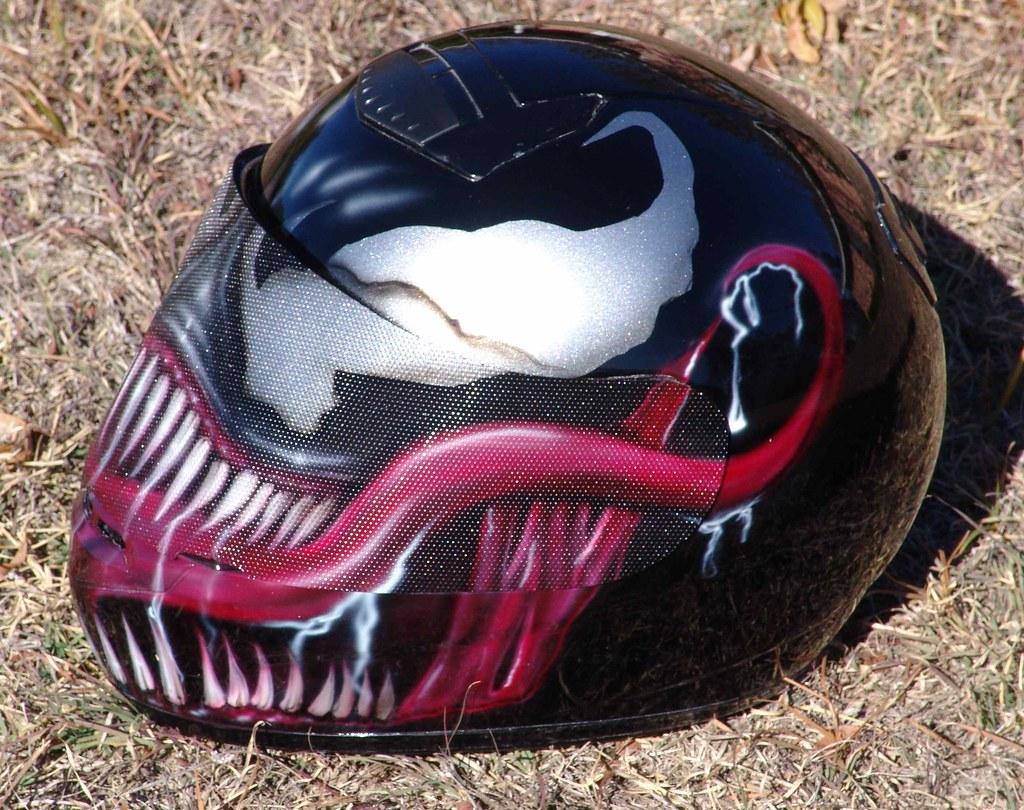 Venom Motorcycle Helmet Venom Helmet Side by Hrs