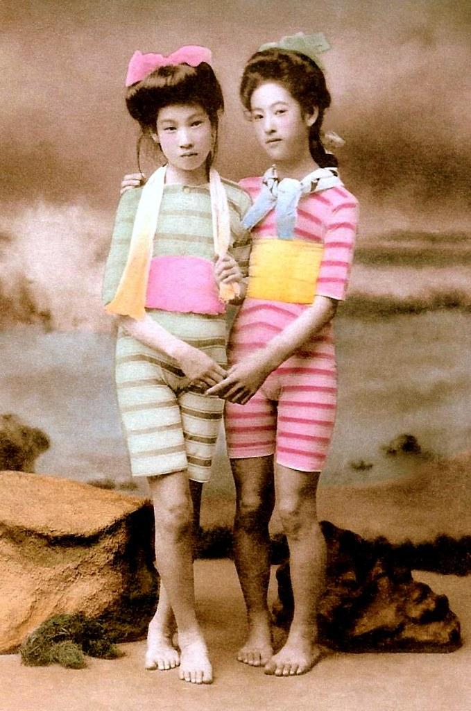 Japanese Swimsuit Girls - Meiji Era Bathing Beauties Of Ol -8886