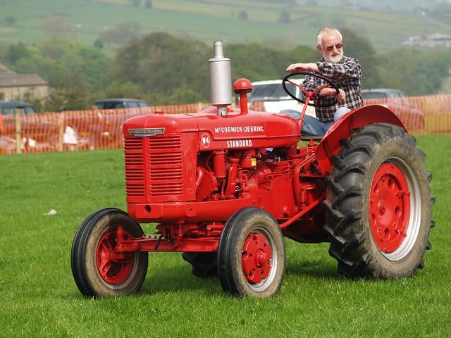 Farmer On Tractor : Standard mccormick deering farm tractors