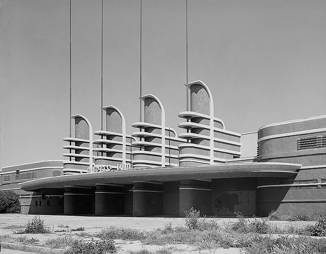 West Facade Of The Pan Pacific Auditorium Los Angeles