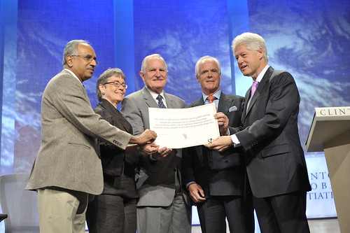 Craig Barrett at Clinton Global Initiative | by Intel Photos