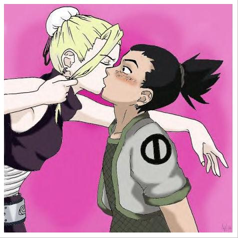 Ino And Shikamaru Kiss | This is a pic of Ino giveing ...