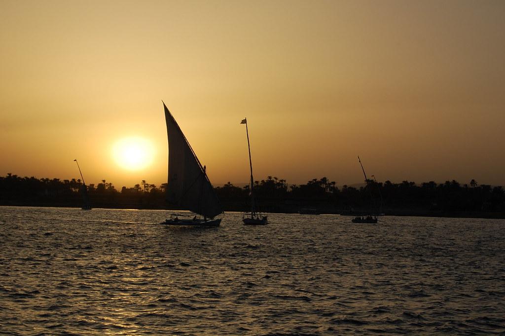 Atardecer en el Nilo.