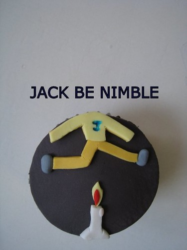 nursery rhymes baby shower cupcakes jack be nimble jack b flickr. Black Bedroom Furniture Sets. Home Design Ideas