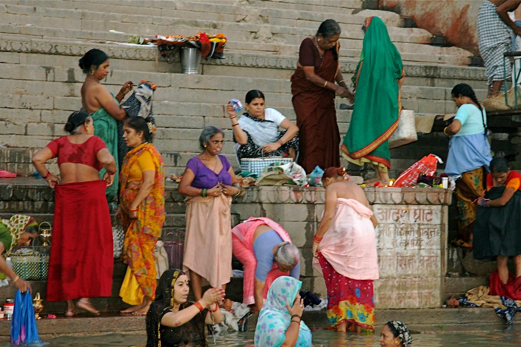Ganga River Bath Women bathing on the G...