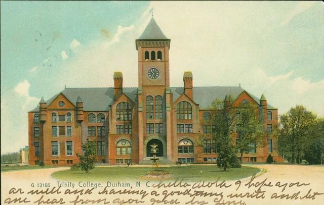 Washington Duke Building Trinity College 1909 Postmark