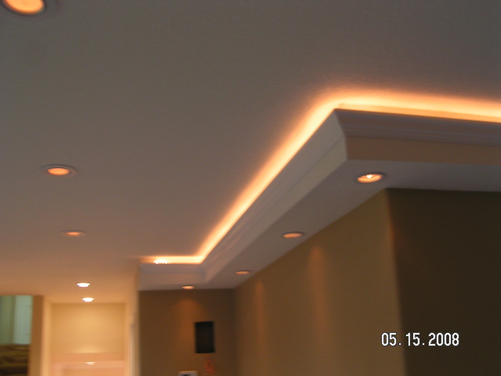 Custom Lighting In Soffits We Built Soffit With Crown