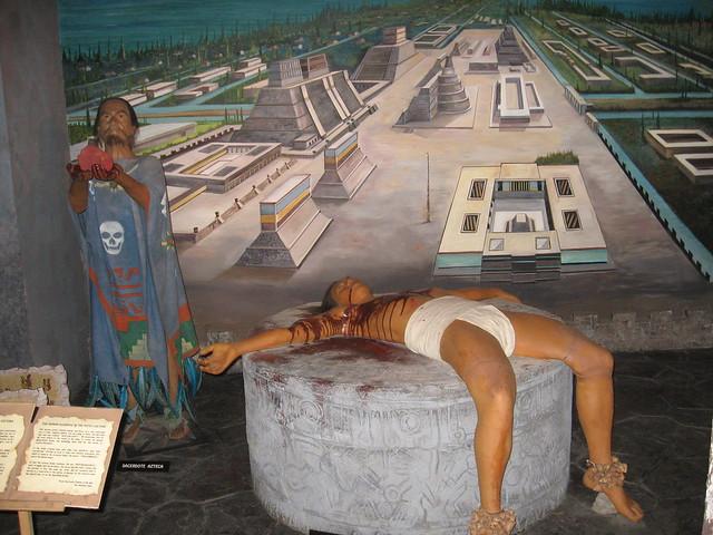 Museo de Cera Tijuana --------- Wax Musuem ----- Aztec ...