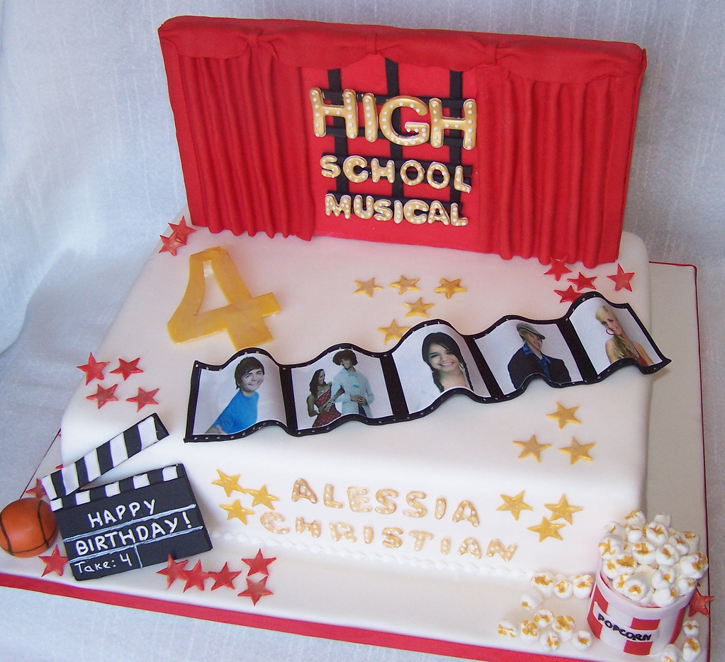 Best Cake Design Schools : High School Musical Cake - top view Beth Flickr