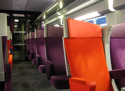 Interieur d 39 un tgv seconde classe inside 2nd class tgv for Interieur tgv
