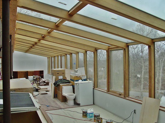 After view of sunroom from kitchen this is looking for Cedar sunroom