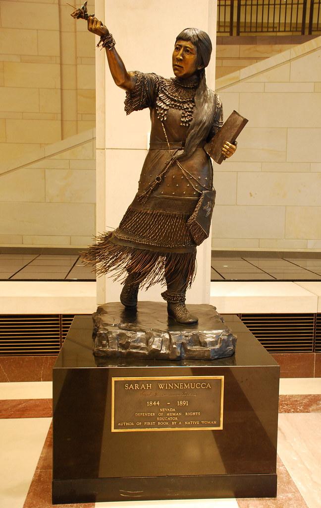 Sarah Winnemucca | Sarah Winnemucca, bronze statue by ...