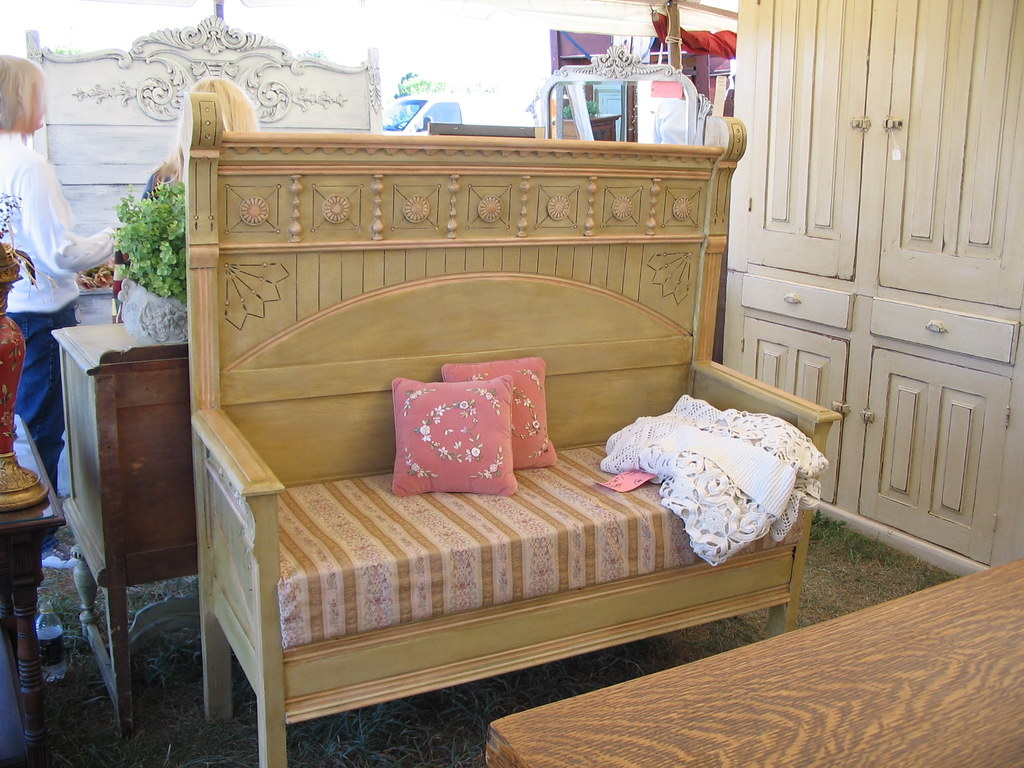 Antique Bed Made Into Bench Saline Michigan Antique