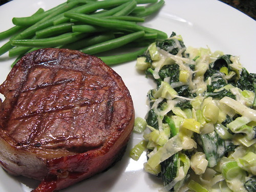 Steakhouse dinner at home | by katbaro