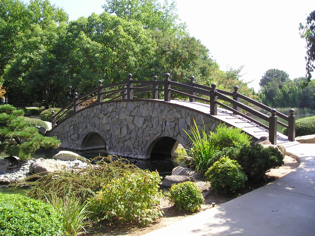 The Moon Bridge In Woodward Park 39 S Japanese Garden Fresno