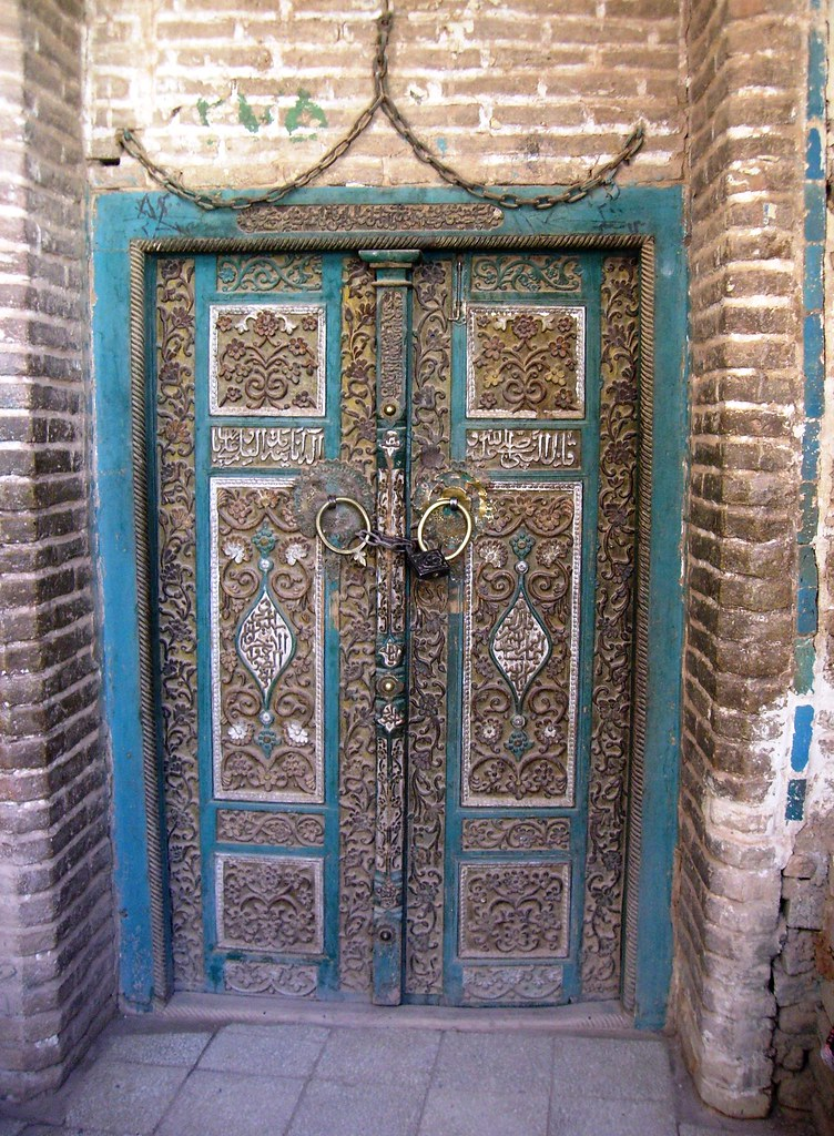 Mosque 39 s door abyaneh iran magellano flickr for Mosque exterior design