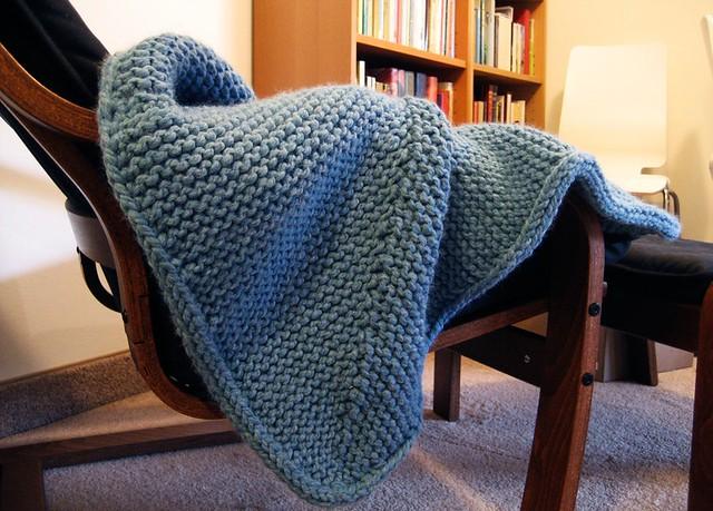 Baby knitted garter stitch blanket ben m online