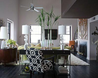 desk behind couch Reid Rolls Memphis Loft Living Room