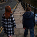 India & Henry walking in Ironbridge