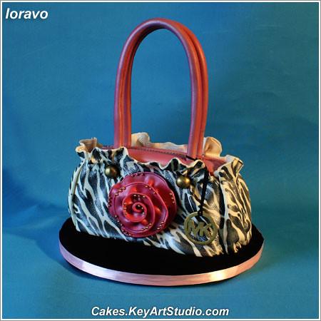 Black And White Purse Cake