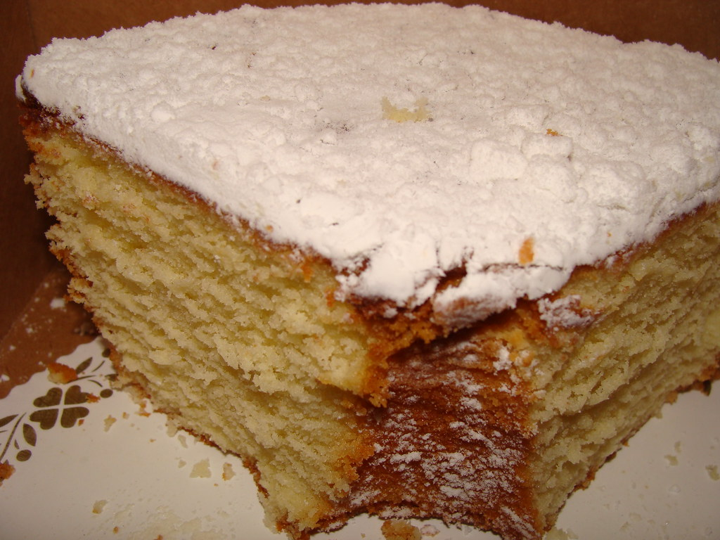 Philly Fluff Cake   yum, from Natales in North NJ.   Gone ...