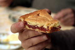eating jam tart | by David Lebovitz