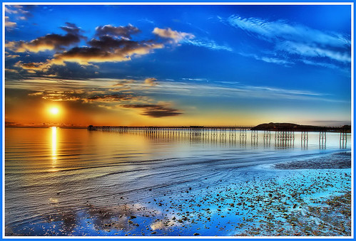 sunrise at Ramsey pier - Isle of Man. | by IMAGES FROM MAN.