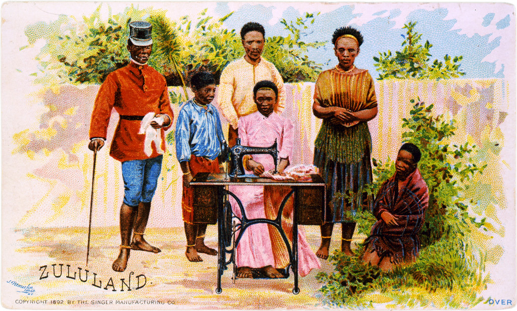 Zululand Advertisement Card For Singer Sewing Machines 1u2026 | Flickr