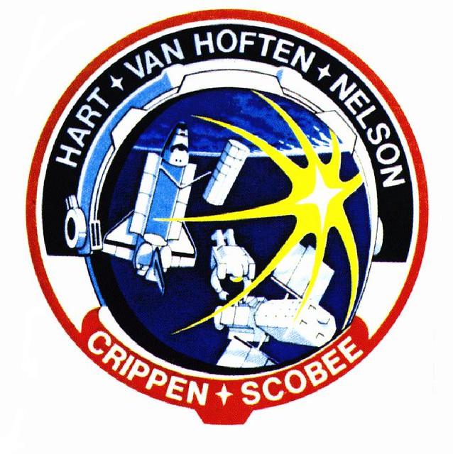 STS-41C / CRIPPEN SCOBEE HART NELSON VAN HOFTEN / CHALLENG ...