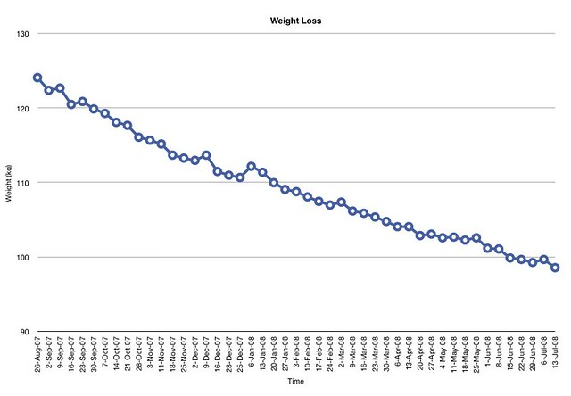 Weight Loss Charts: Weight Loss | Current weight loss since Sept 07 | Ian Dick | Flickr,Chart