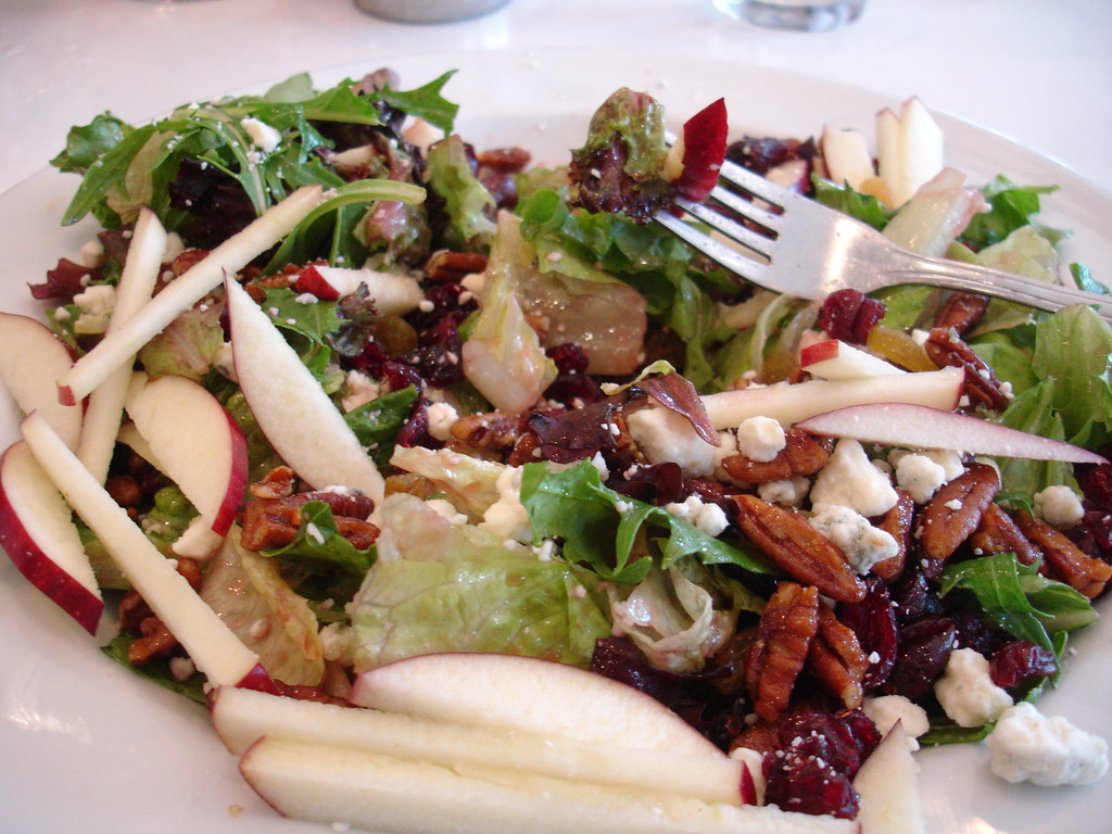 Apple, Walnut, Bleu Cheese Mixed Greens Salad | We had ...