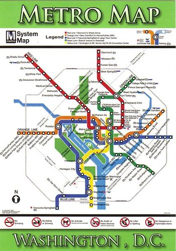 Washington DC Metro Map Postcard 2007  Kotarana  Flickr