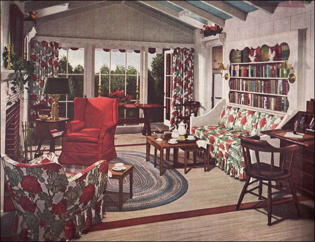 1948 mid century traditional living room early american - 1950 s living room decorating ideas ...