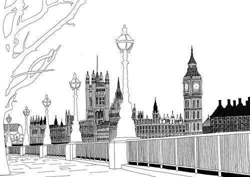 Pen House Drawing Houses of Parliament Pen