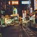 Trams by night - 3 (Wanchai), Hong Kong, 1980