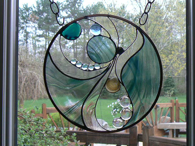 Not Your Traditional Stained Glass Window A Swirling